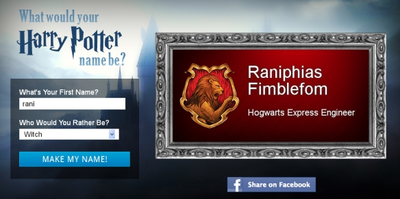 Go Home Harry Potter Name Generator, You Are Drunk  | Rani