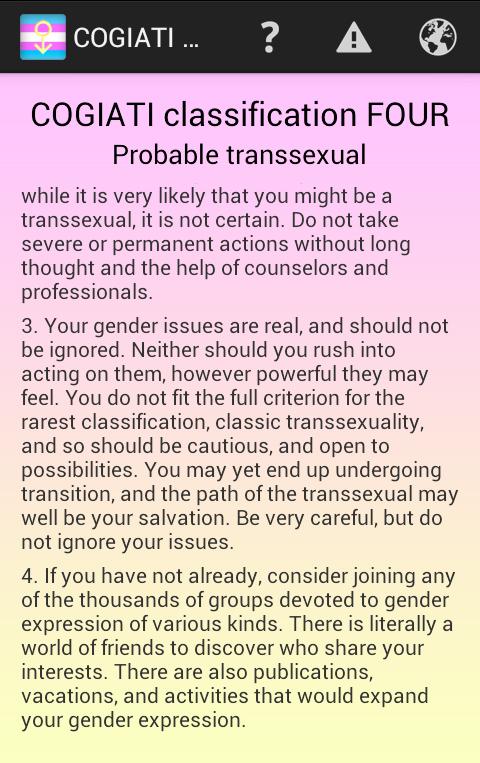Transsexual test cogiati