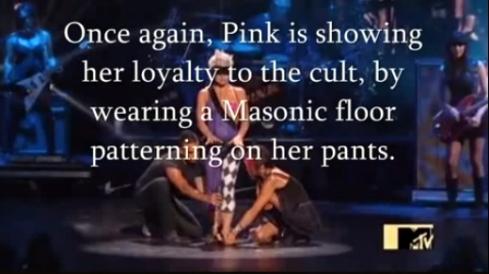 pink celebrity satanism